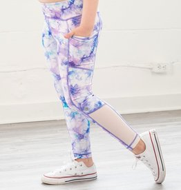 Jill Yoga F21 Side Pocket Legging Purple Print