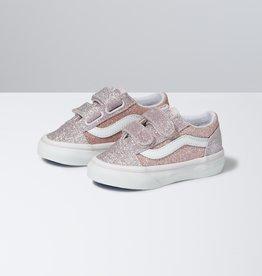 Vans Old Skool V Pink 2 Tone Glitter