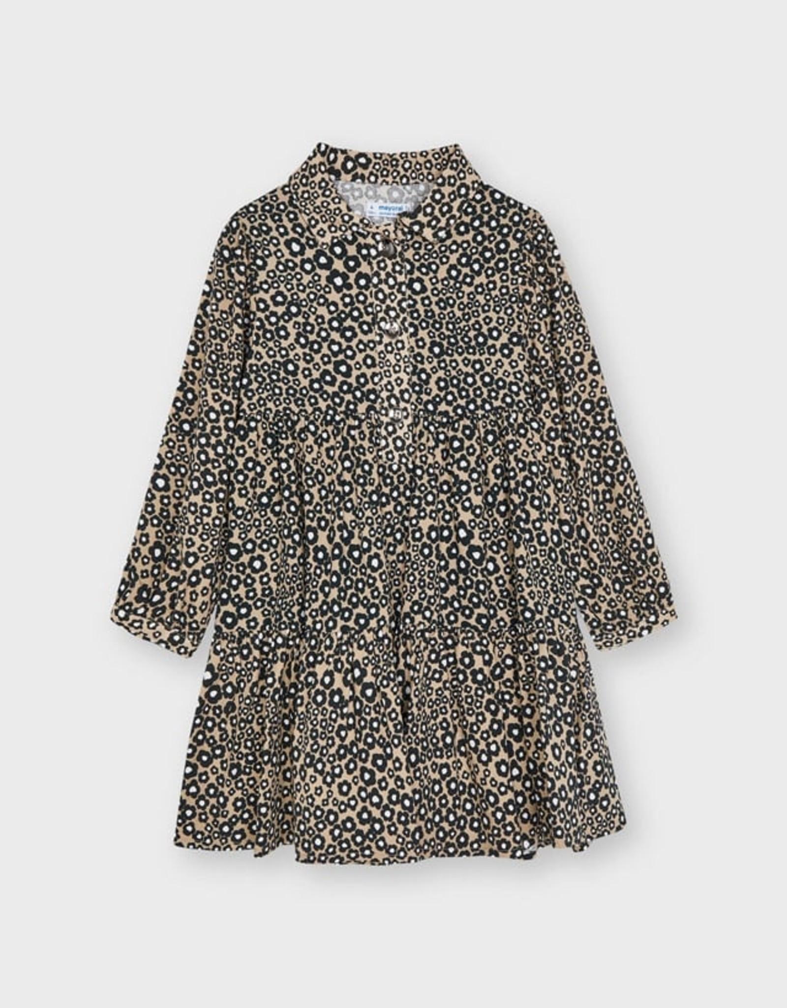 Mayoral FA21 G Leopard Print Dress