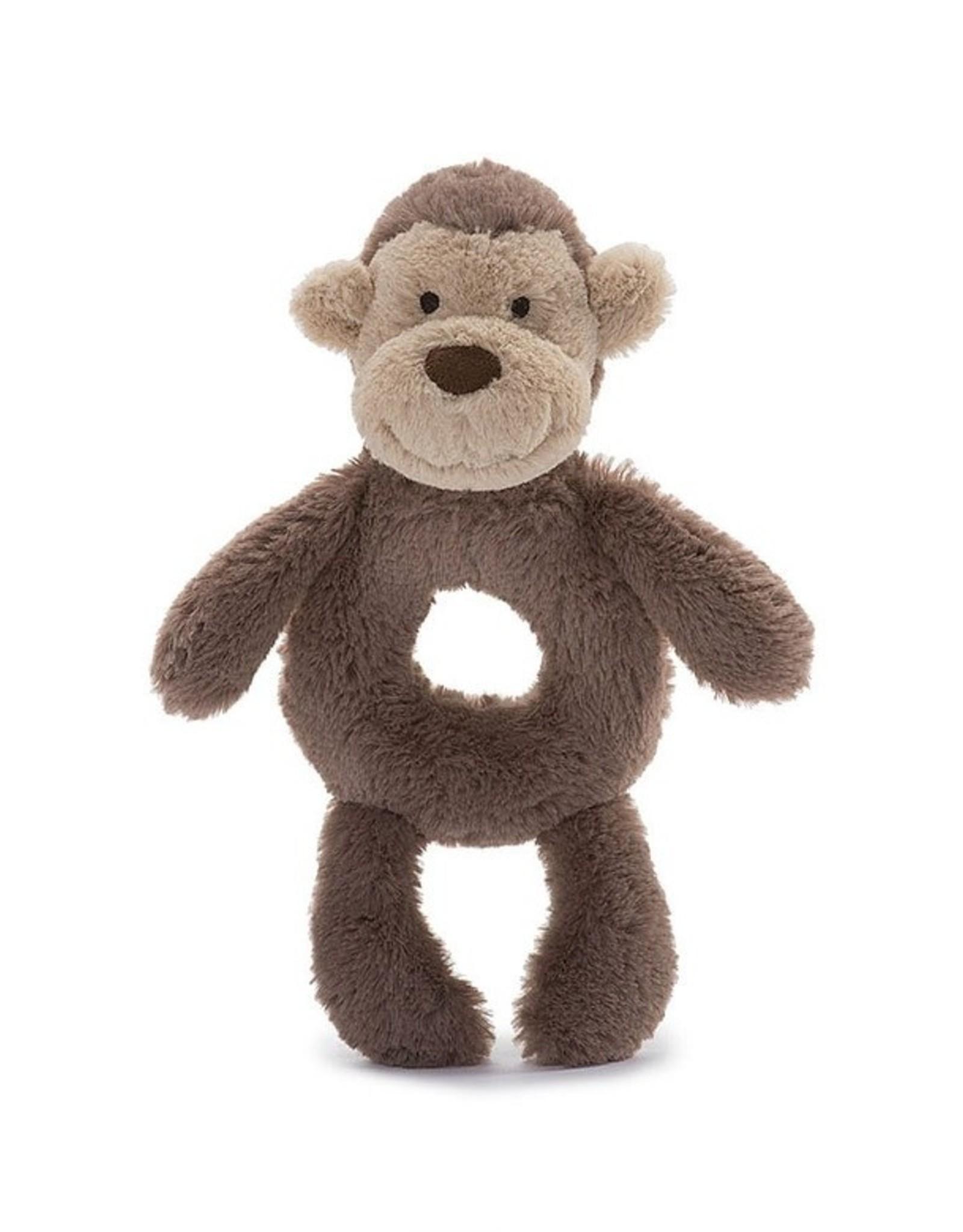 Jelly Cat Bashful Monkey Ring Rattle