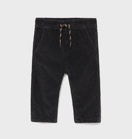 Mayoral FA21 BbyB Black Cord Pants