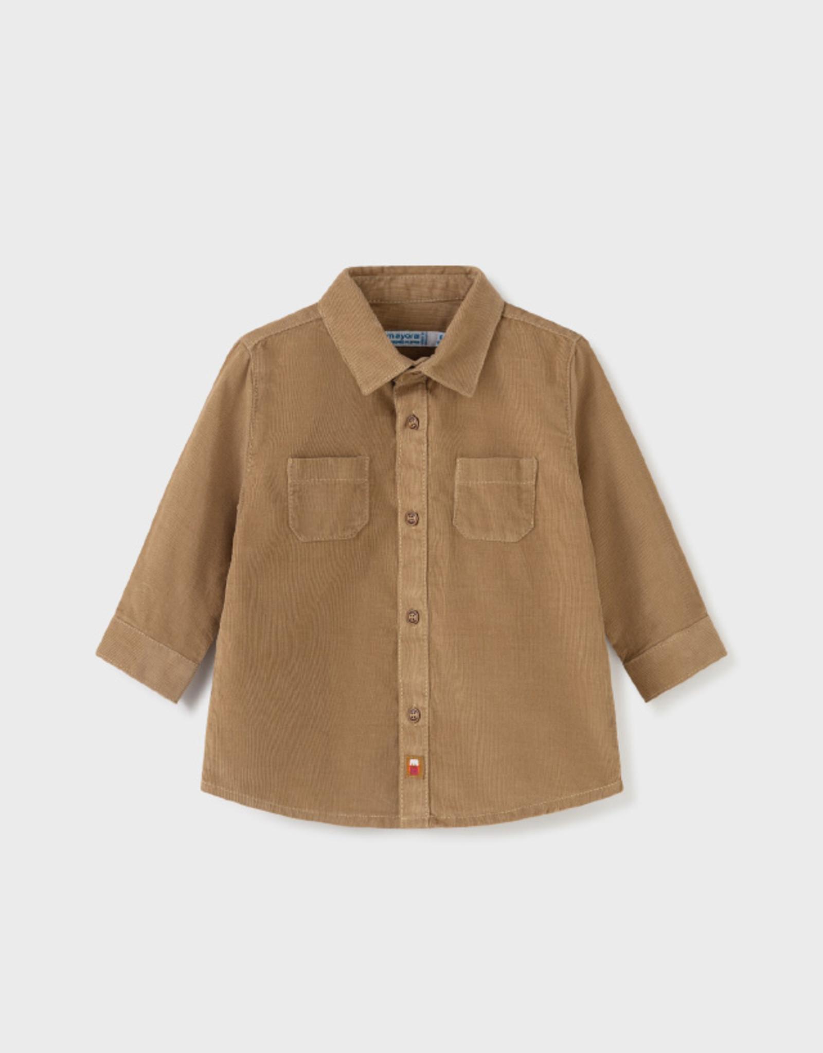 Mayoral FA21 BbyB Tan Cord Shirt