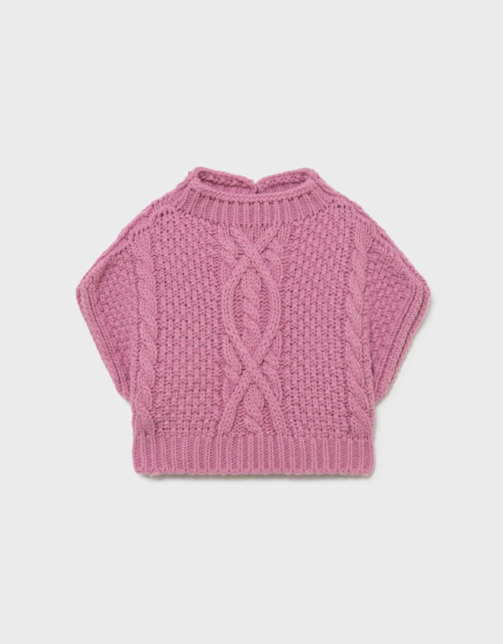 Mayoral FA21 BbyG Pink Knit Vest