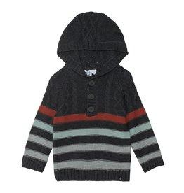 DeuxParDeux FA21 B Knit Stripe Hood Sweater