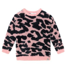 DeuxParDeux FA21 G Pink Leopard Knit Sweater