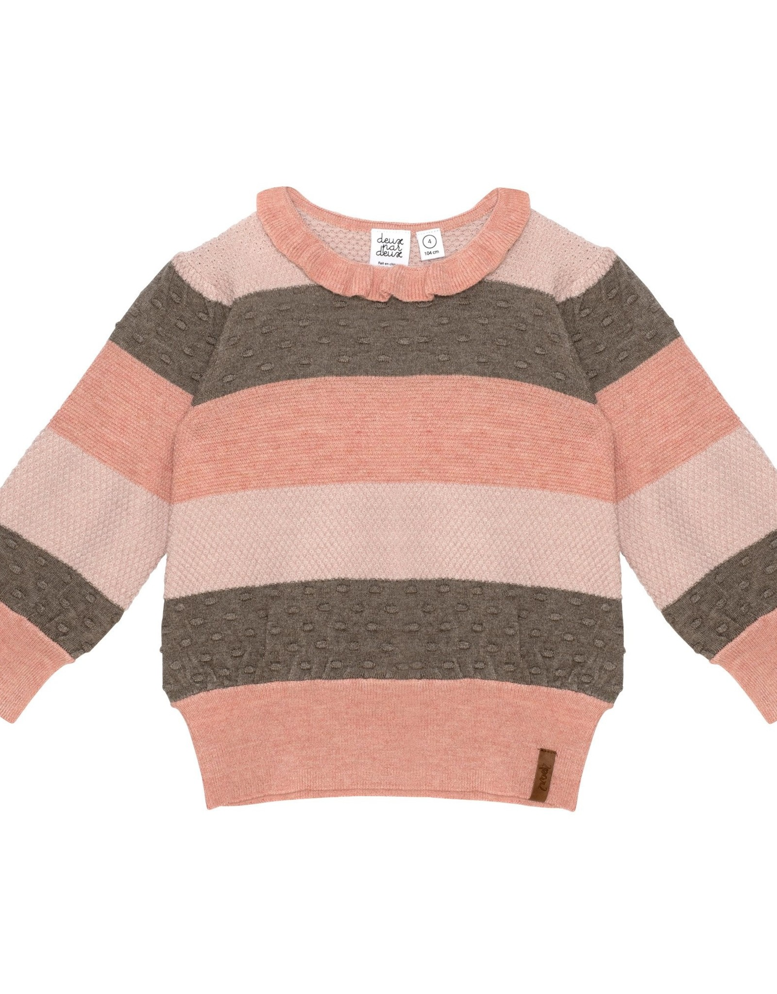 DeuxParDeux FA21 G Pink Striped Sweater