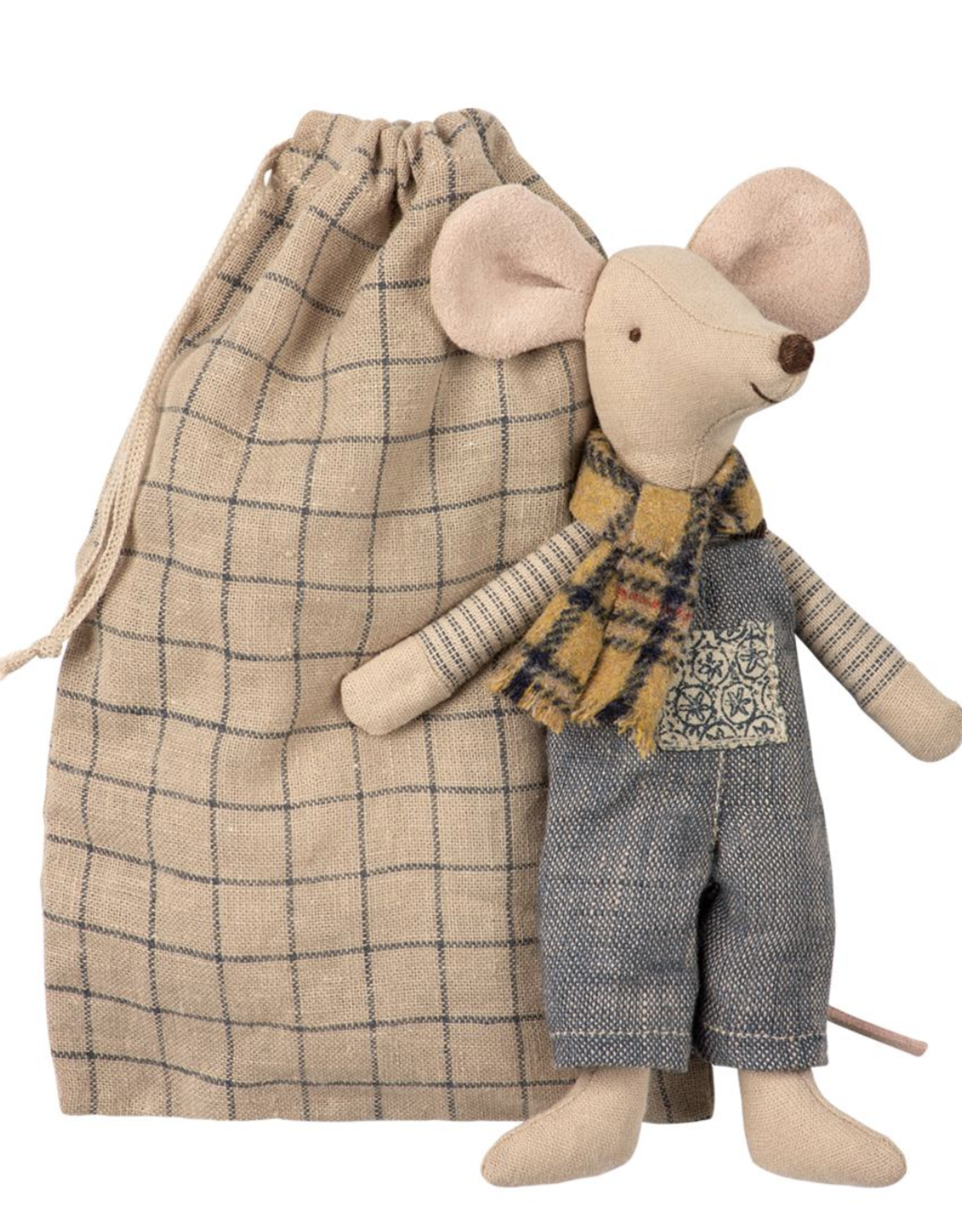 Maileg Winter Mouse, Father in Bag