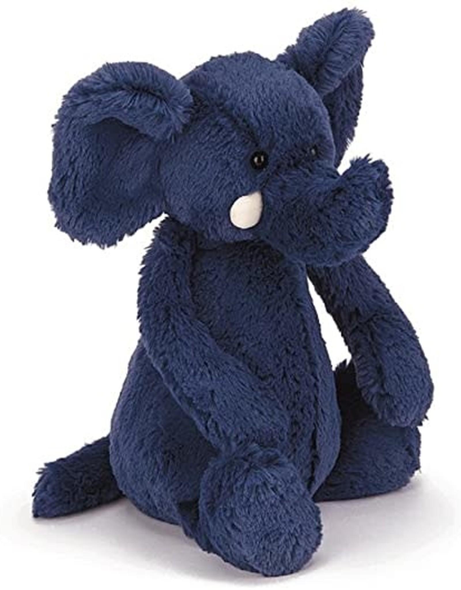JellyCat Bashful Elephant, blue medium