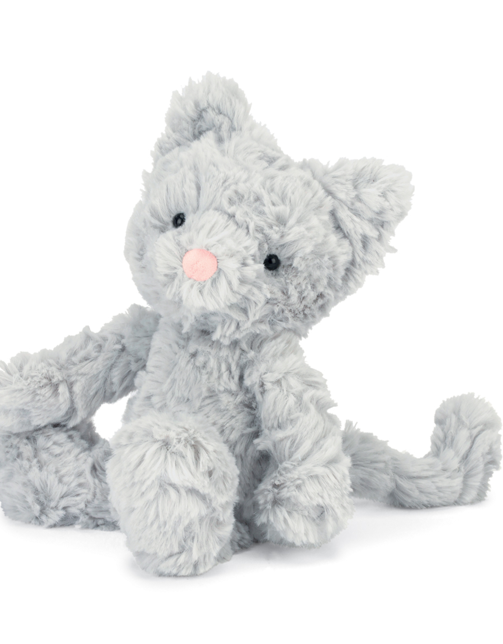 JellyCat Squiggle Kitty, gray, small