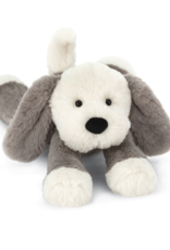 Jellycat Smudge Puppy, gray white, medium