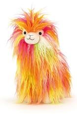 Jellycat Fiesta Llama, neon multi, medium