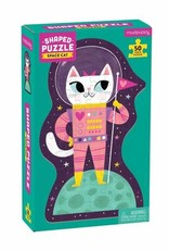 Mudpuppy Space Cat 50 pc Shaped Puzzle