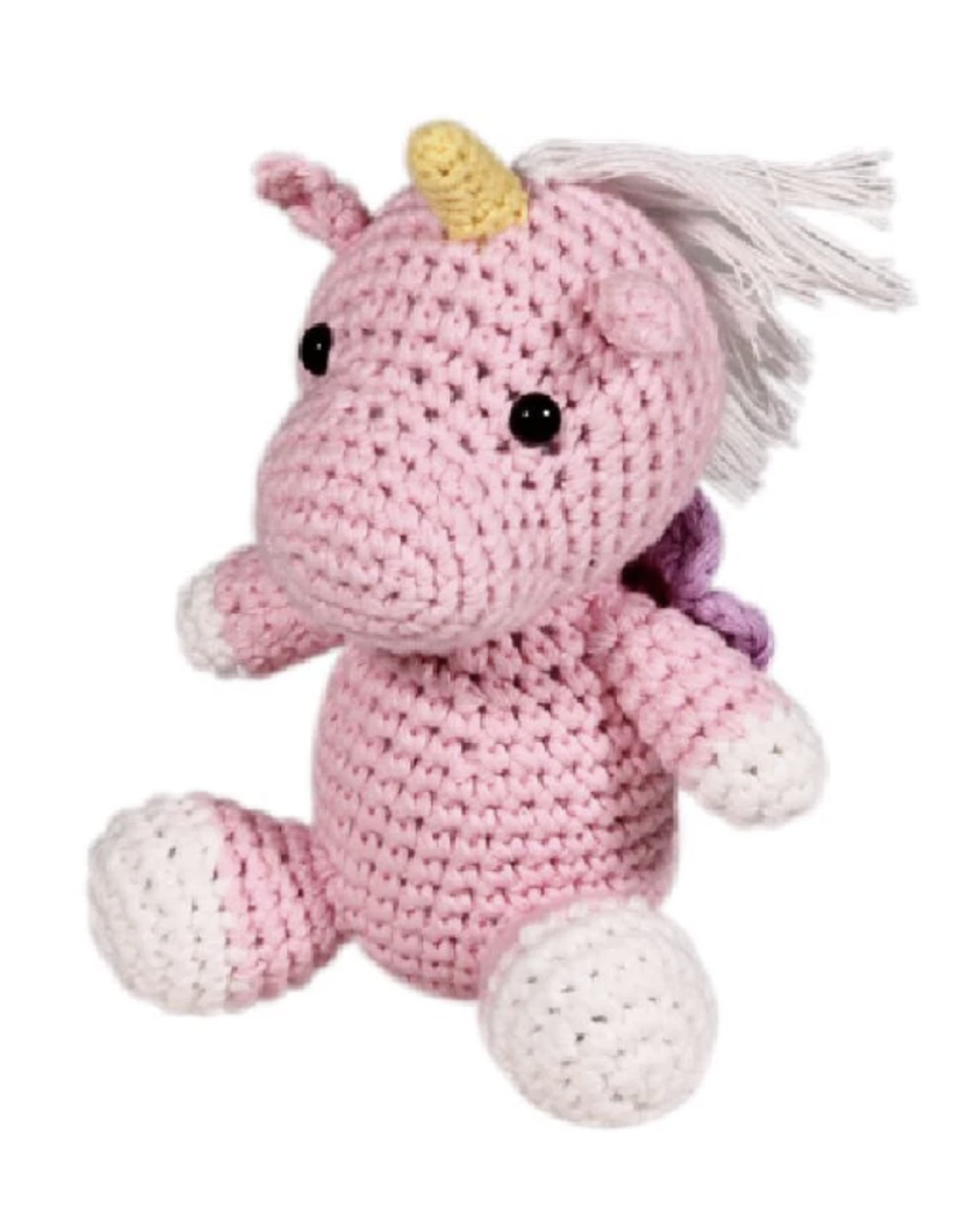 "Zubels Unicorn Rattle, 6"""