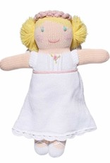 """Zubels Grace the Angel Rattle, white, 7"""""""