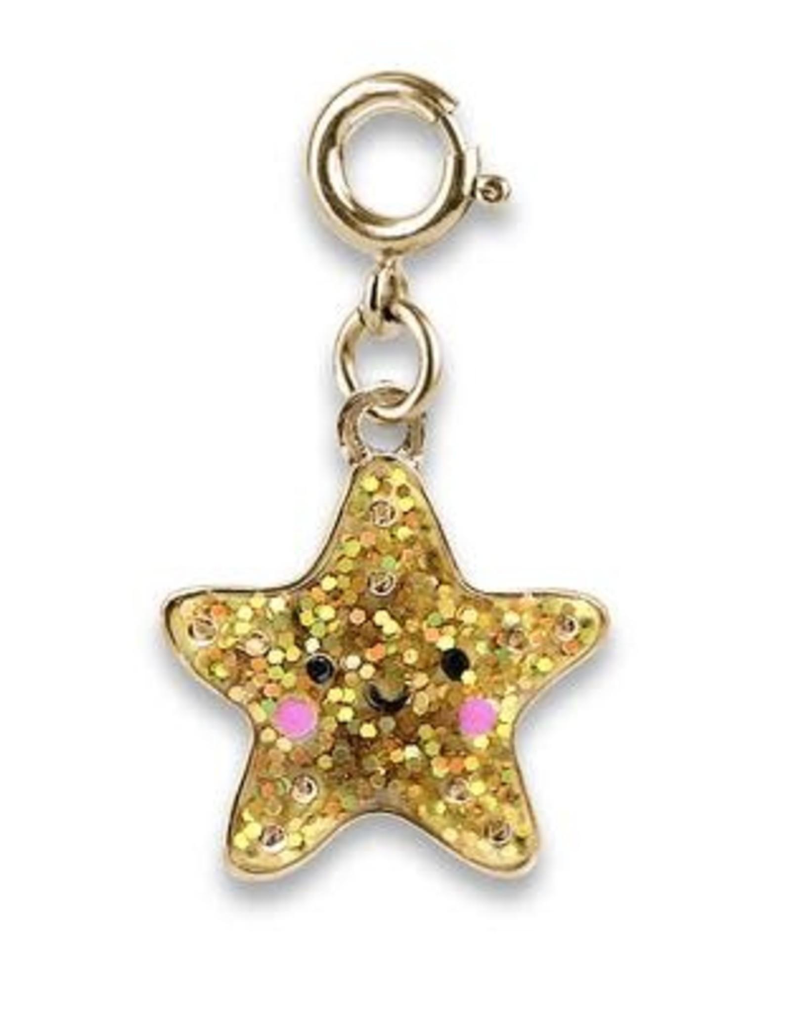Charm It! Gold Glitter Starfish Charm