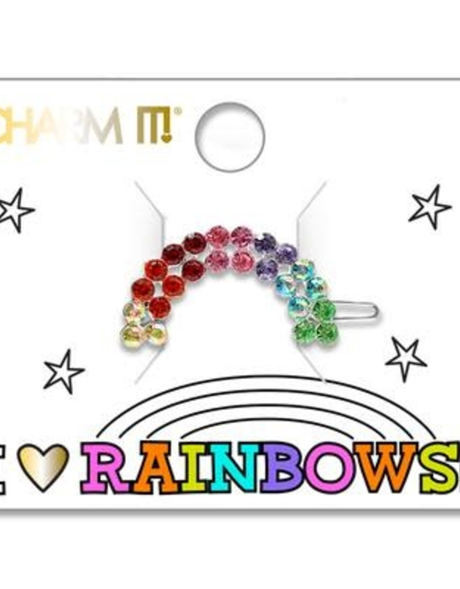 Charm It! Rhinestone Rainbow Barrette