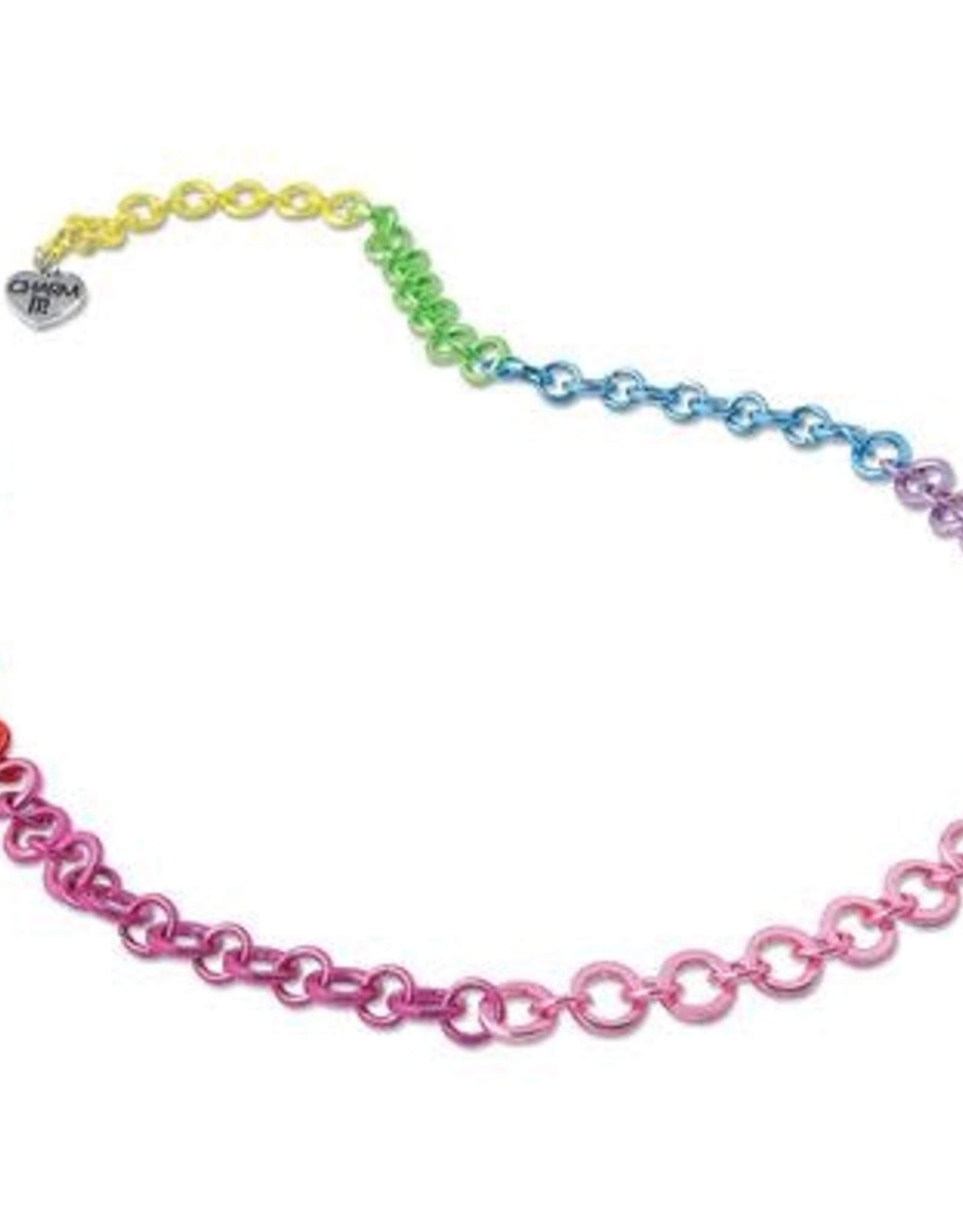 Charm It! Chain Necklace Rainbow OS