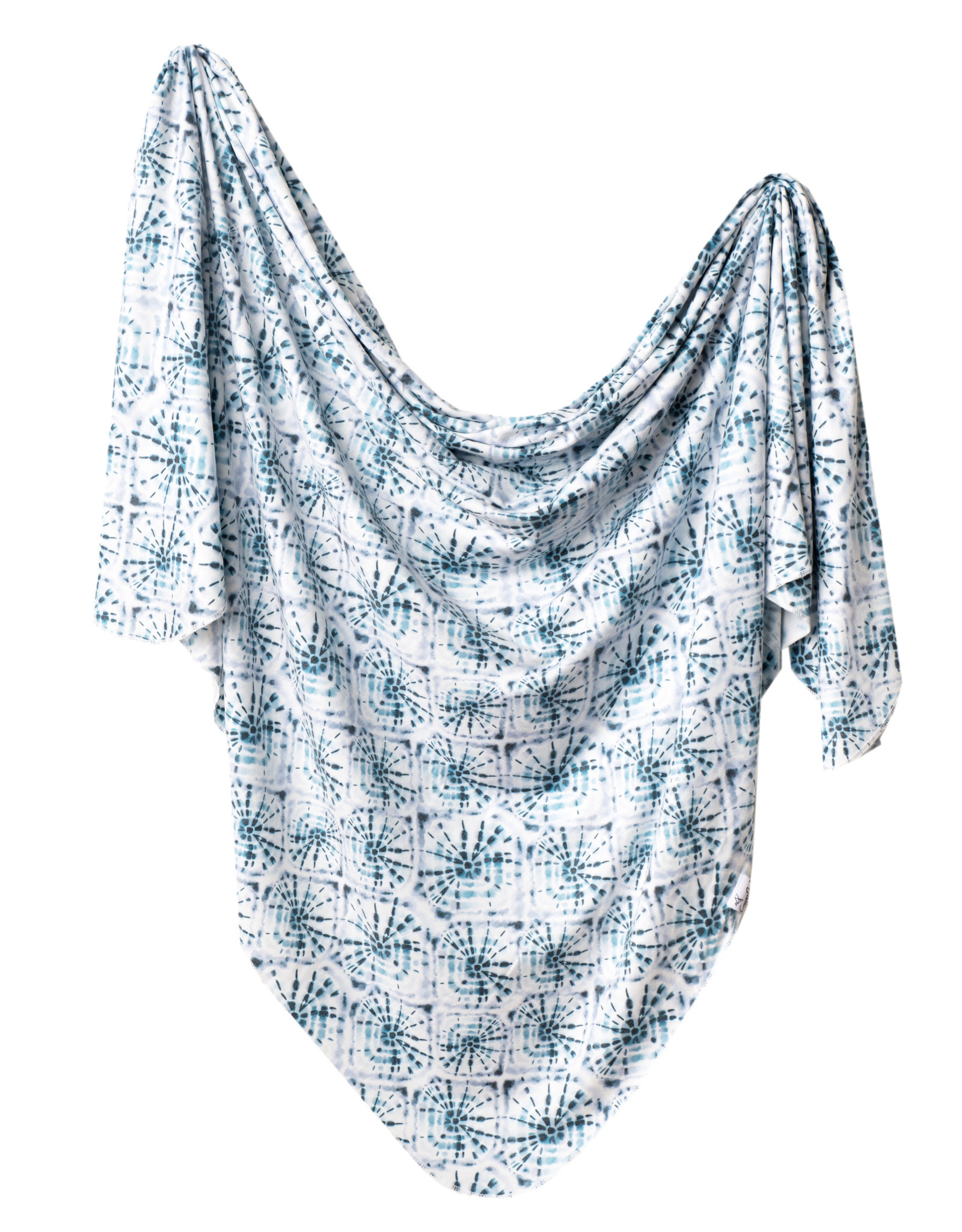 Copper Pearl Swaddle Blanket  Indigo