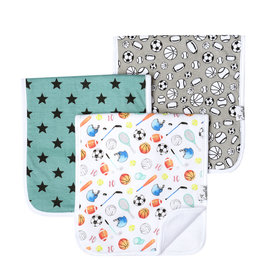 Copper Pearl 3-Pack Burp Cloths Varsity