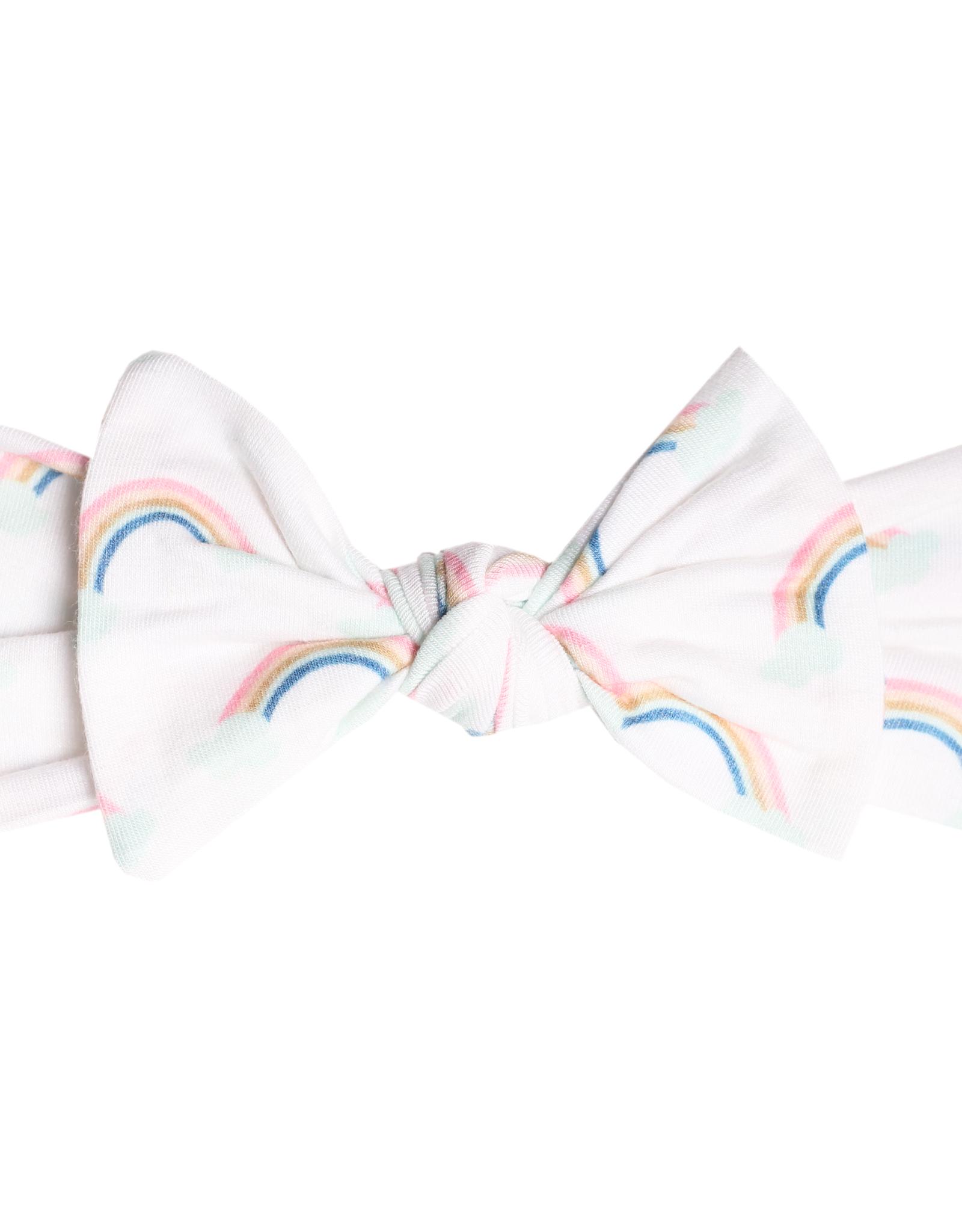 Copper Pearl Knit Headband Bow Daydream