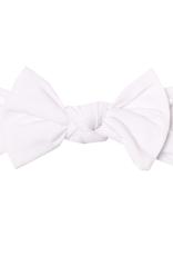 Copper Pearl Knit Headband Bow Dove