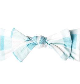 Copper Pearl Knit Headband Bow Lincoln
