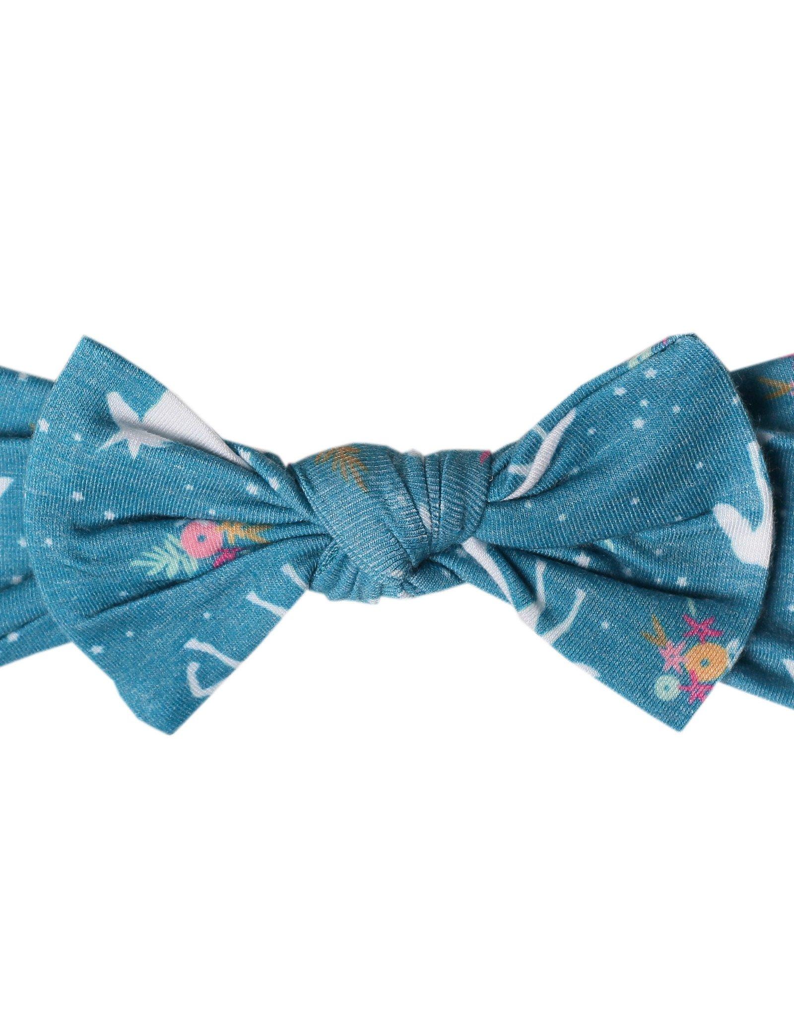 Copper Pearl Knit Headband Bow Whimsy