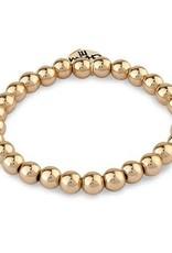 Charm It! Bead Stretch Bracelet Gold 6mm
