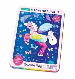Mudpuppy Magnetic Figures Tin Unicorn Magic