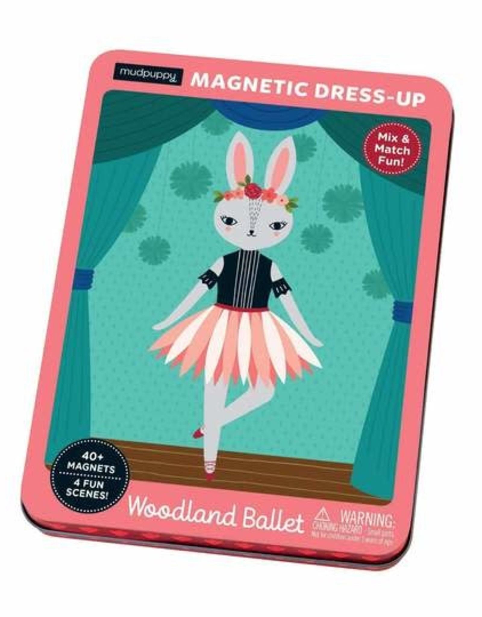 Mudpuppy Magnetic Figures Tin Woodland Ballet