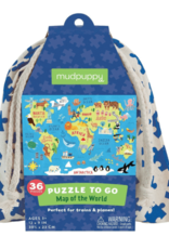 Mudpuppy Puzzle To Go Map of World