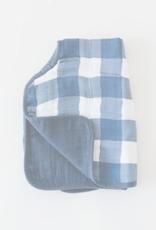 Little Unicorn Burp Cloth Jack Plaid