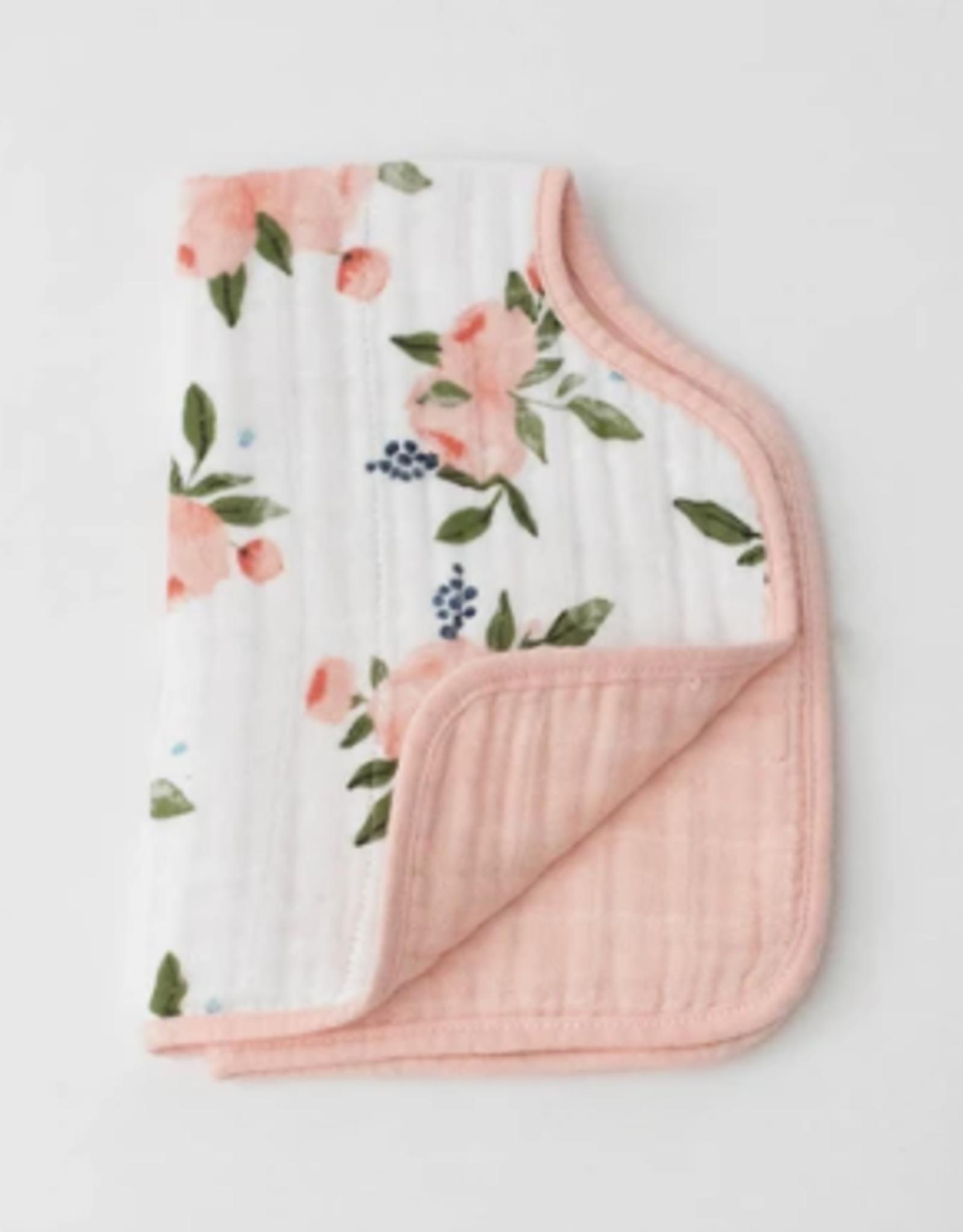 Little Unicorn Burp Cloth Wtrclr Roses