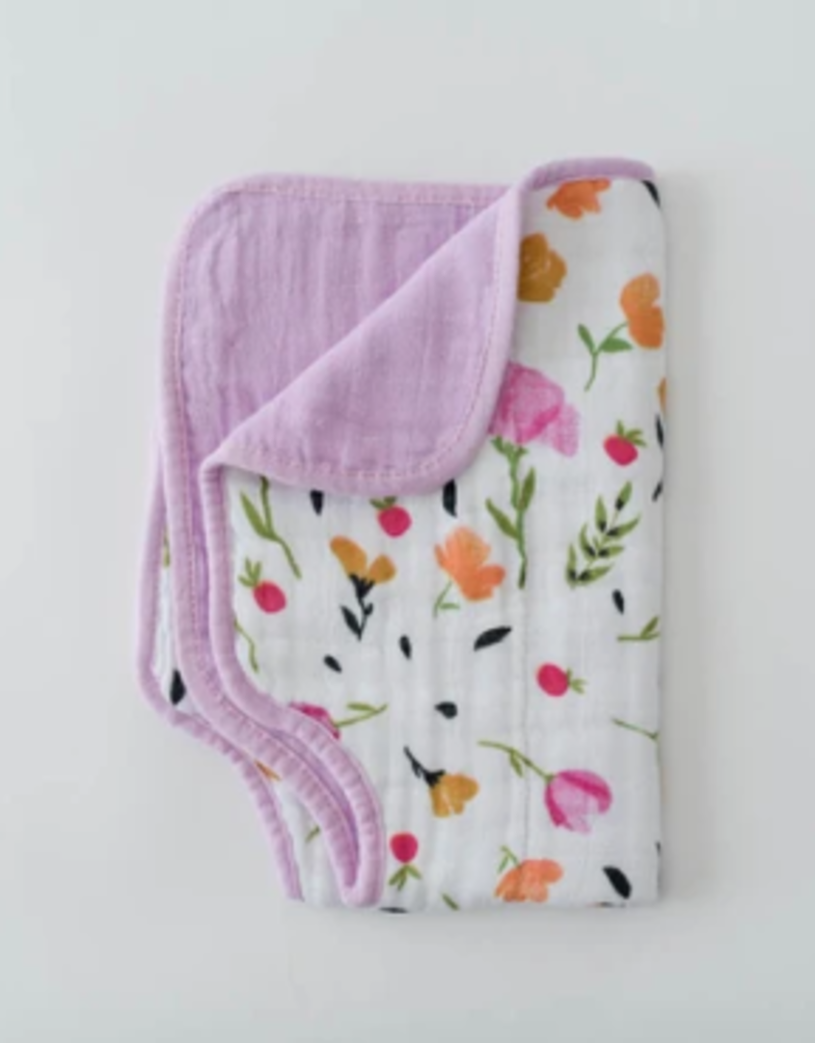 Little Unicorn Burp Cloth Berry Bloom