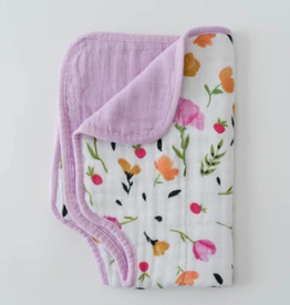 Little Unicorn Burp Cloth Berry Bloom