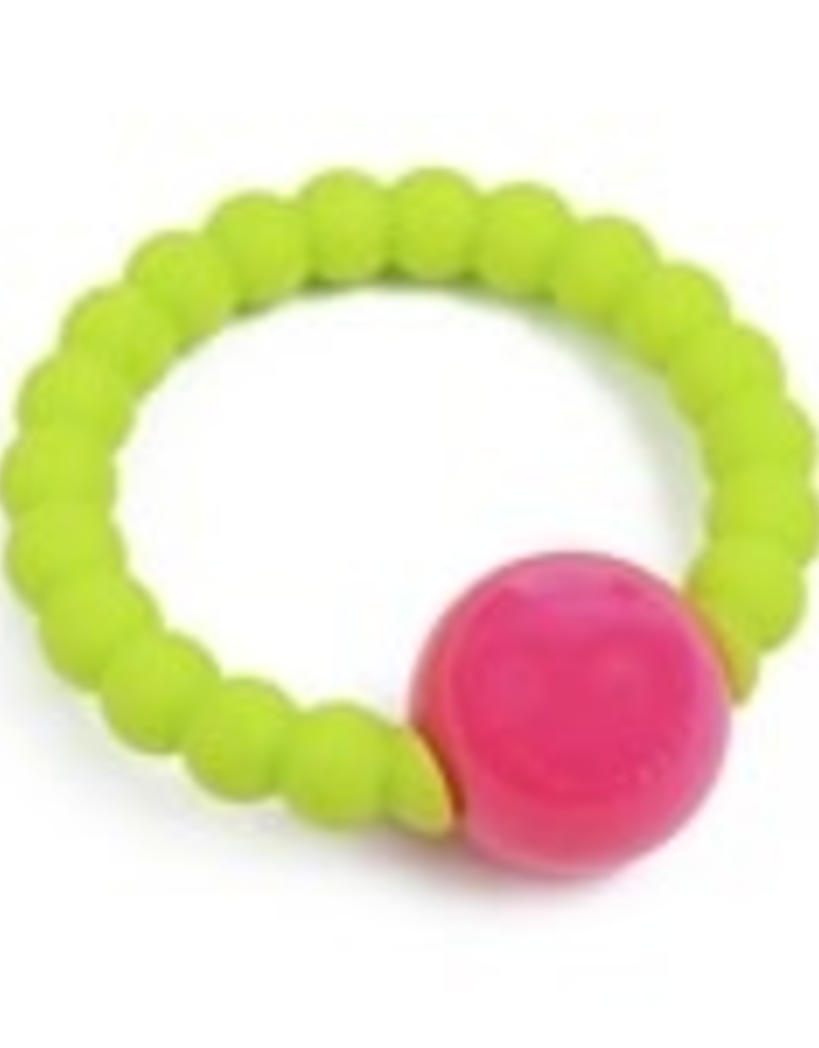 Chewbeads Mercer Rattle Chartreuse Pink