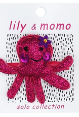 Lily & Momo Single Clip Pink Ollie Octopus