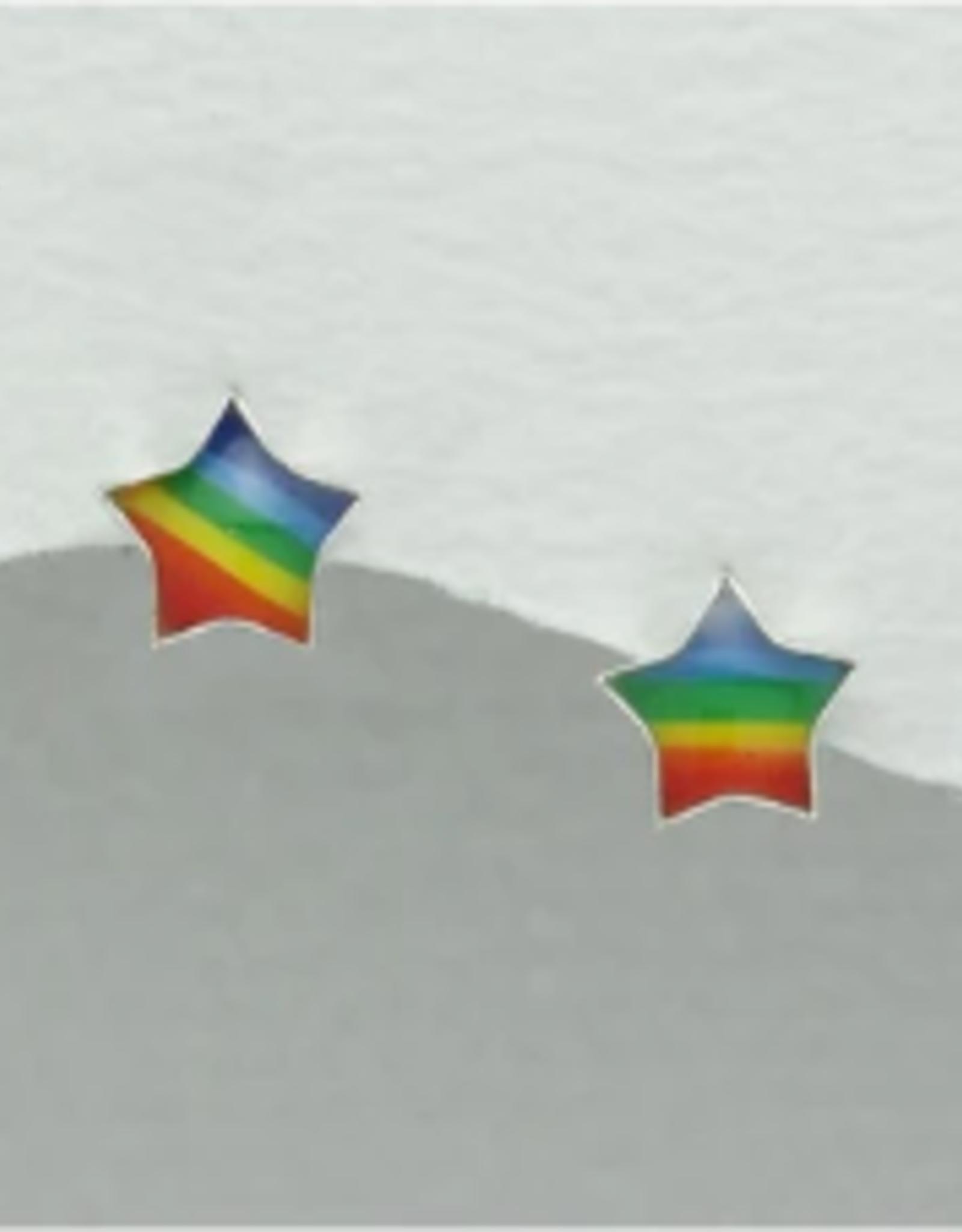 Lily & Momo Shooting Star Earrings, rainbow