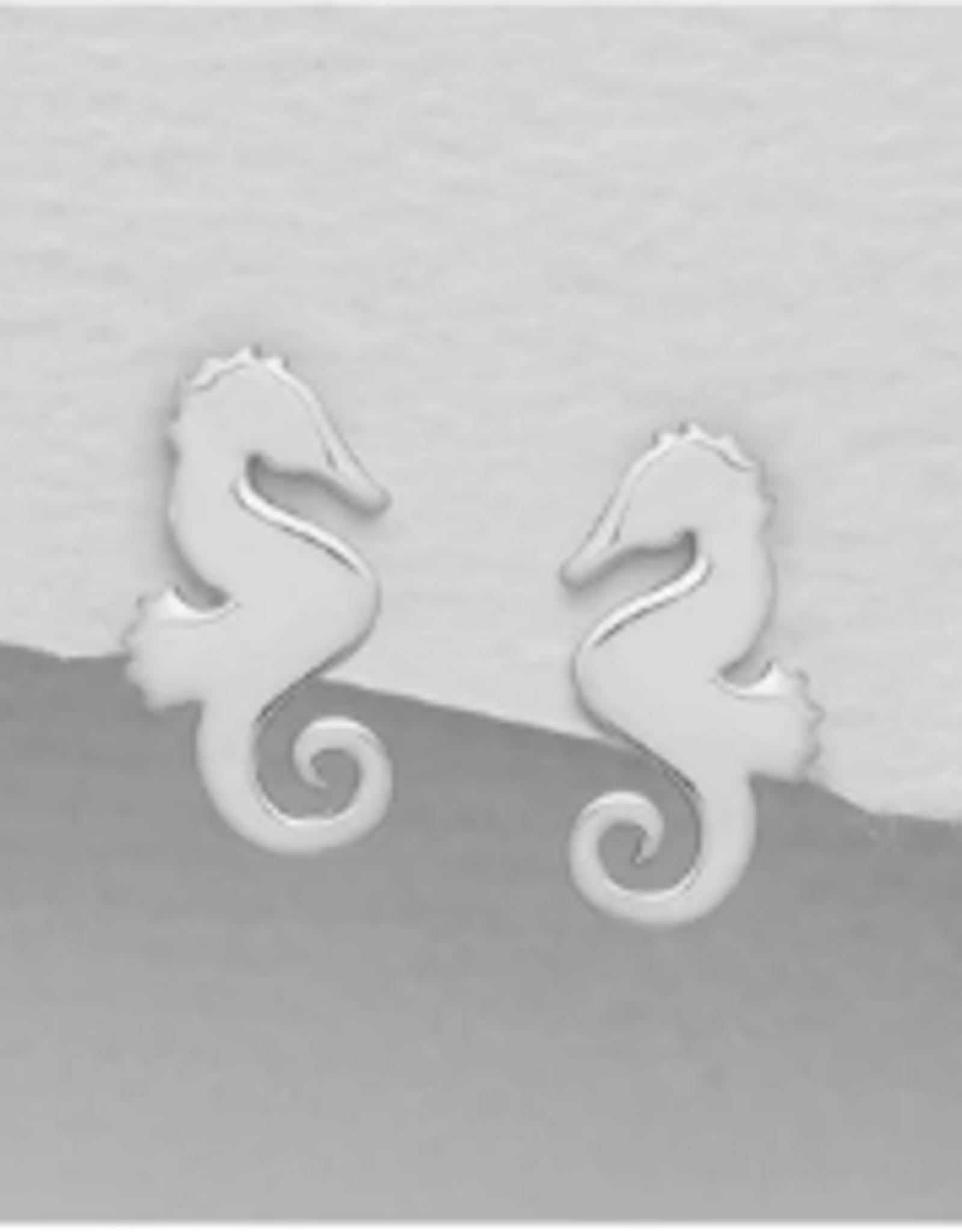 Lily & Momo Seahorse Earrings, silver