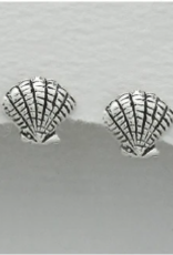 Lily & Momo Sea Shell Earrings, silver