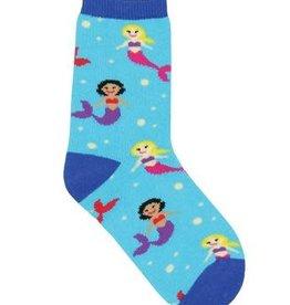 SockSmith Mini Mermaid You Look blue 6-12mo