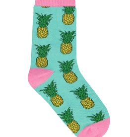 SockSmith Pineapple Kids green yellow large