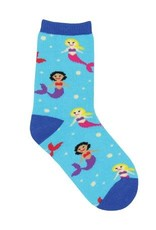 SockSmith Mini Mermaid You Look blue 12-24mo