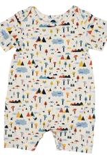 Bird & Bean Short Coverall, Happy Camper