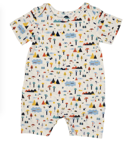 Bird & Bean Short Coverall, Happy Camper