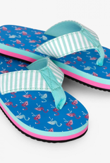 Hatley Fancy Flamingos Flip Flops