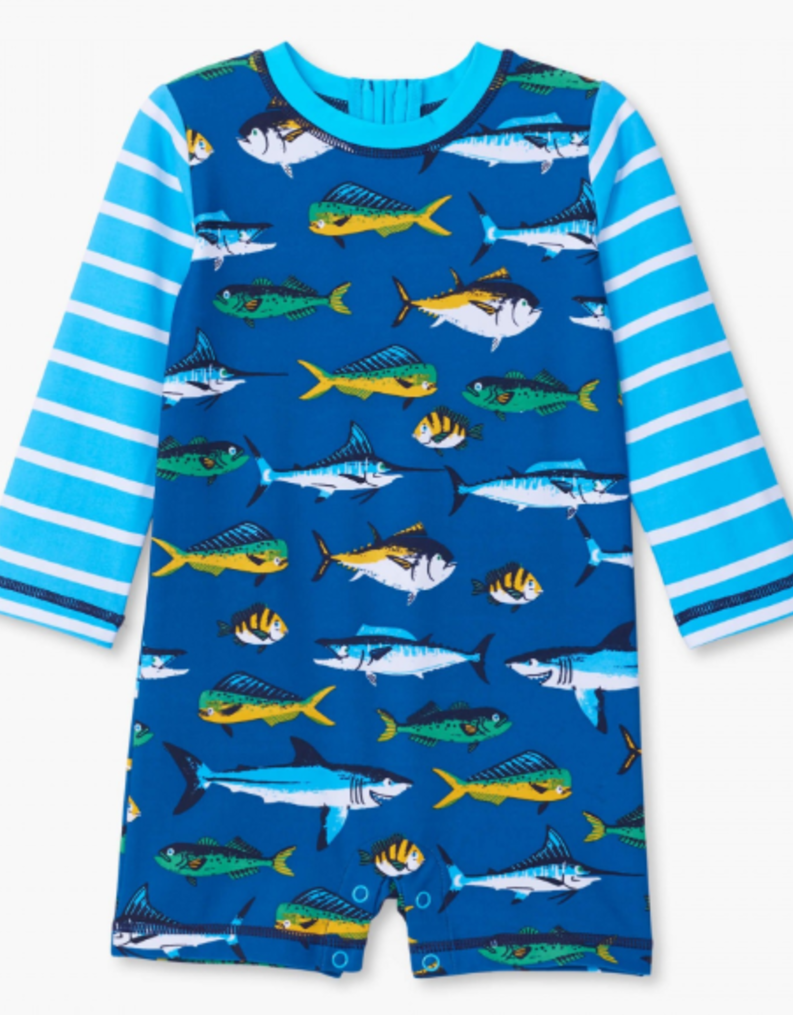 Hatley Game Fish Baby 1 Piece Rashguard