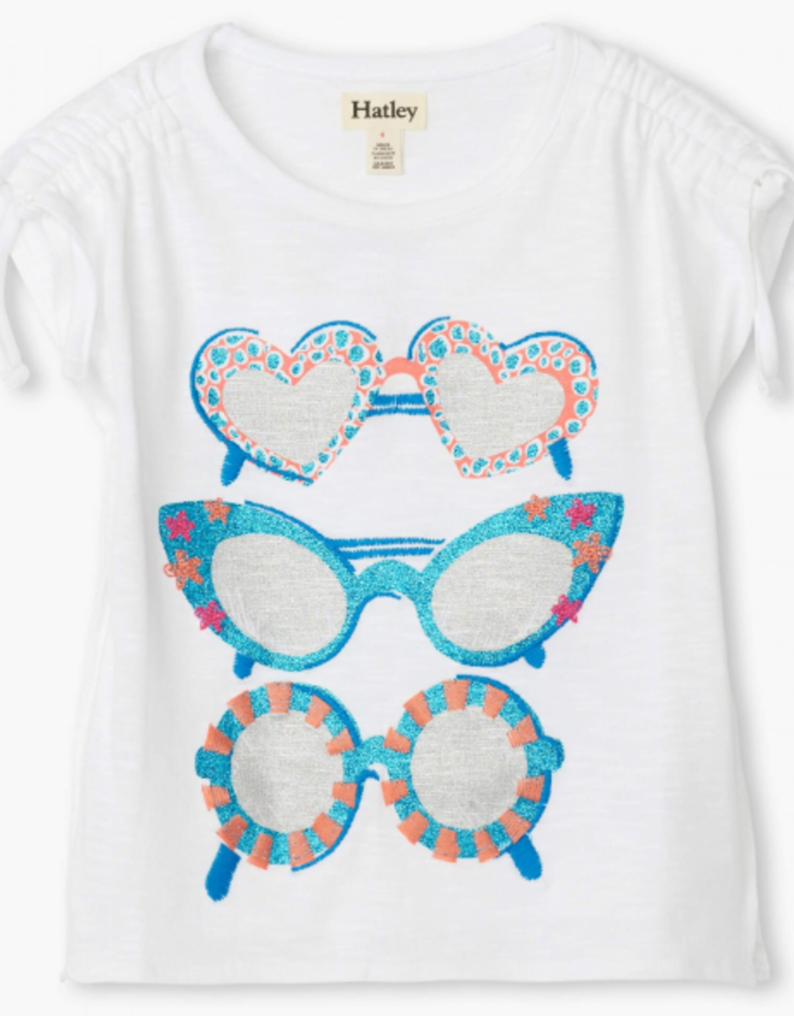 Hatley Snazzy Sunglasses Cinched Shoulder Tee