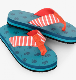 Hatley Tropical Palms Flip Flops