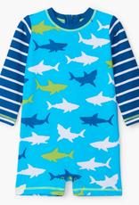 Hatley White Sharks 1 Piece Rashguard